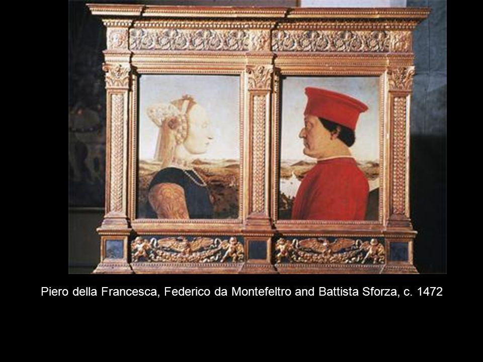 Piero della Francesca, Federico da Montefeltro and Battista Sforza, c. 1472