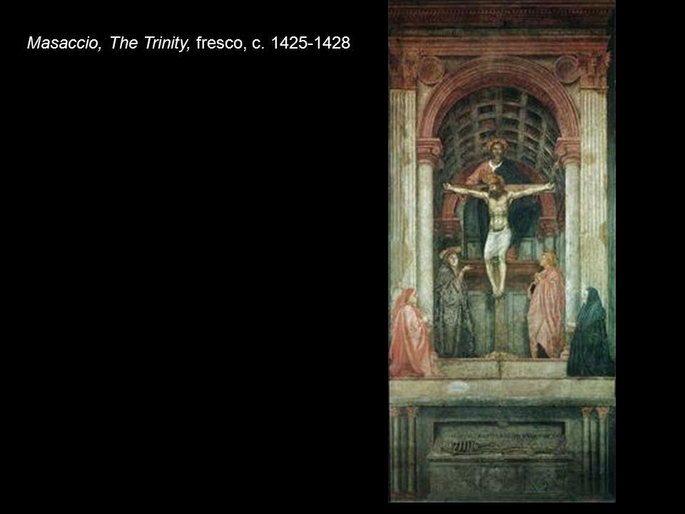 Masaccio, The Trinity, fresco, c. 1425-1428