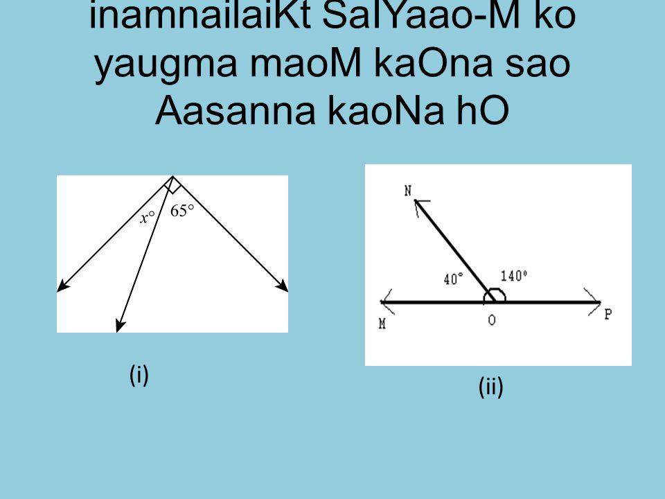 inamnailaiKt SaIYaao-M ko yaugma maoM kaOna sao Aasanna kaoNa hO (ii) (i)