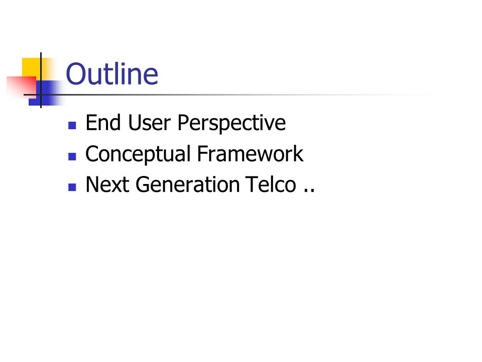 End User - Internet Telephone