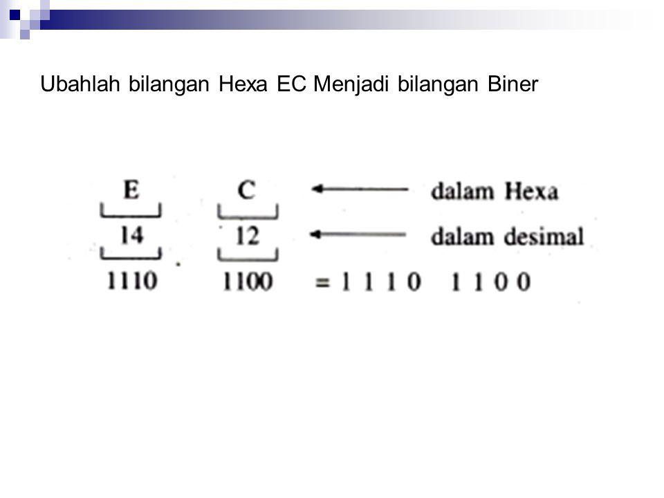 Ubahlah bilangan Hexa EC Menjadi bilangan Biner