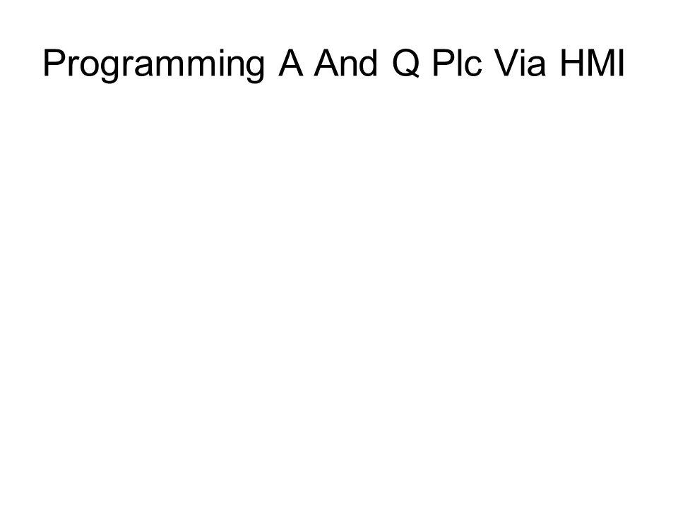 Programming A And Q Plc Via HMI