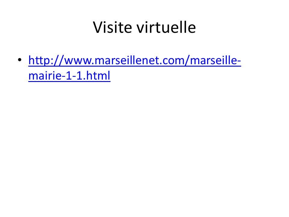 Visite virtuelle http://www.marseillenet.com/marseille- mairie-1-1.html http://www.marseillenet.com/marseille- mairie-1-1.html
