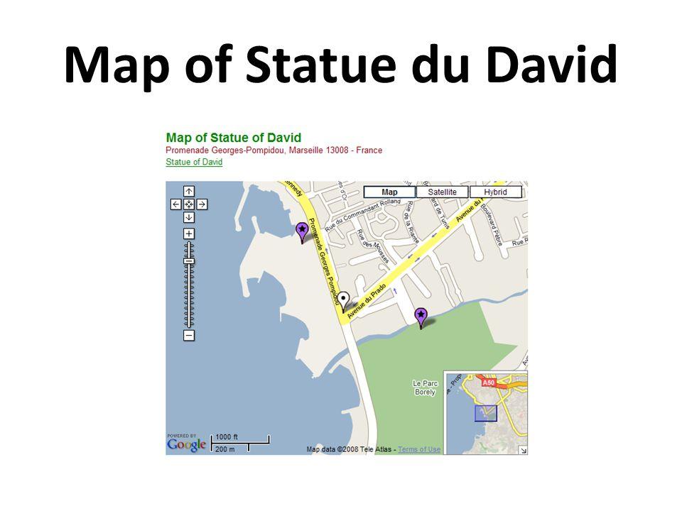 Map of Statue du David