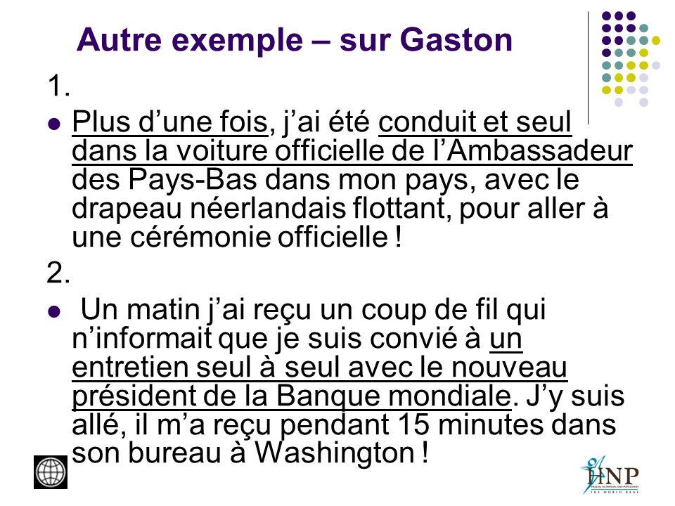 Autre exemple – sur Gaston 1.
