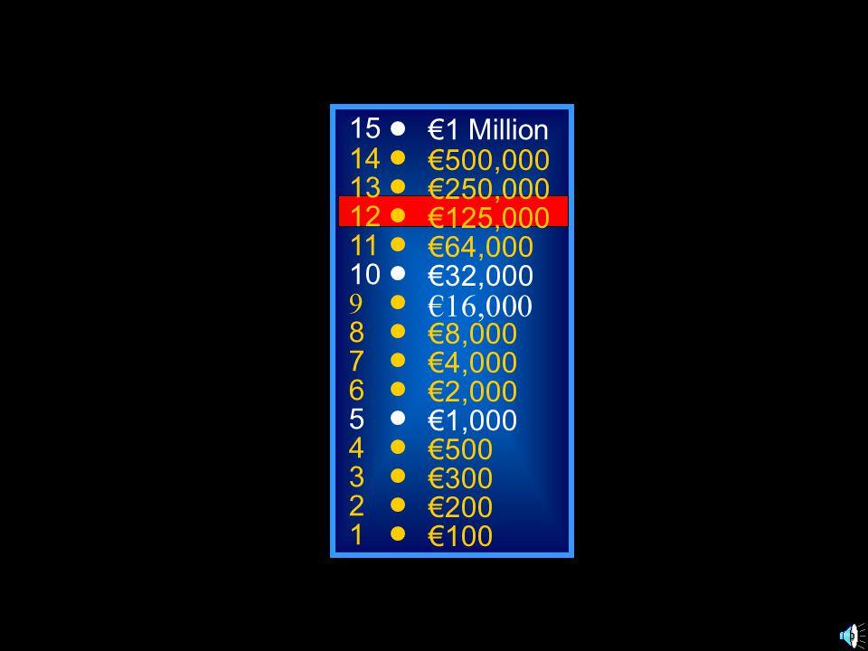 A: oeufs C: eau B: glace D: fromage 50:50 15 14 13 12 11 10 9 8 7 6 5 4 3 2 1 €1 Million €500,000 €250,000 €125,000 €64,000 €32,000 €16,000 €8,000 €4,000 €2,000 €1,000 €500 €300 €200 €100 Je prends des 11