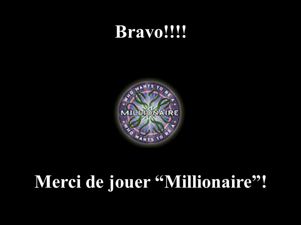A: oeufs C: limonade B: Orangina D: épinards 50:50 15 14 13 12 11 10 9 8 7 6 5 4 3 2 1 €1 Million €500,000 €250,000 €125,000 €64,000 €32,000 €16,000 €8,000 €4,000 €2,000 €1,000 €500 €300 €200 €100 Je bois de l' 15