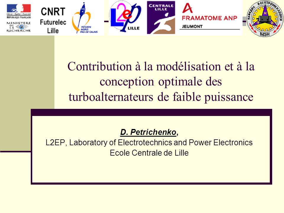 Contribution à la modélisation et à la conception optimale des turboalternateurs de faible puissance D.