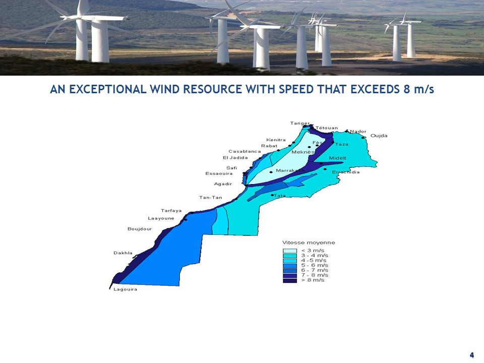 AN EXCEPTIONAL WIND RESOURCE WITH SPEED THAT EXCEEDS 8 m/s 4