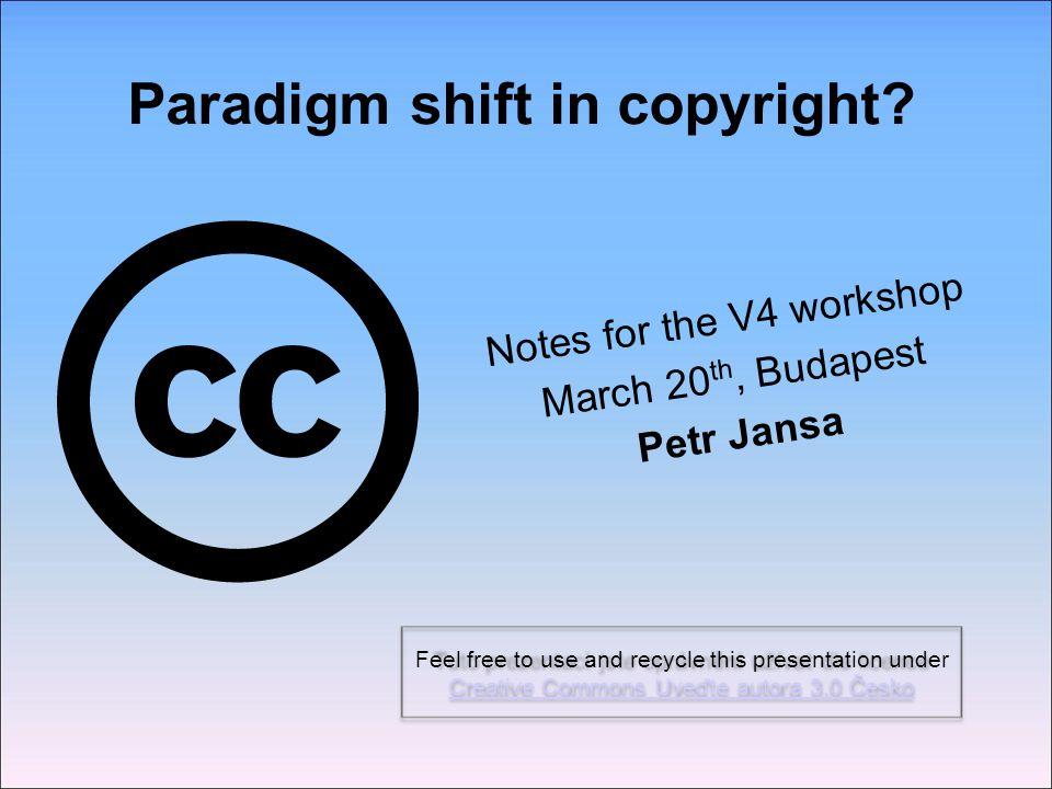 Paradigm shift in copyright.