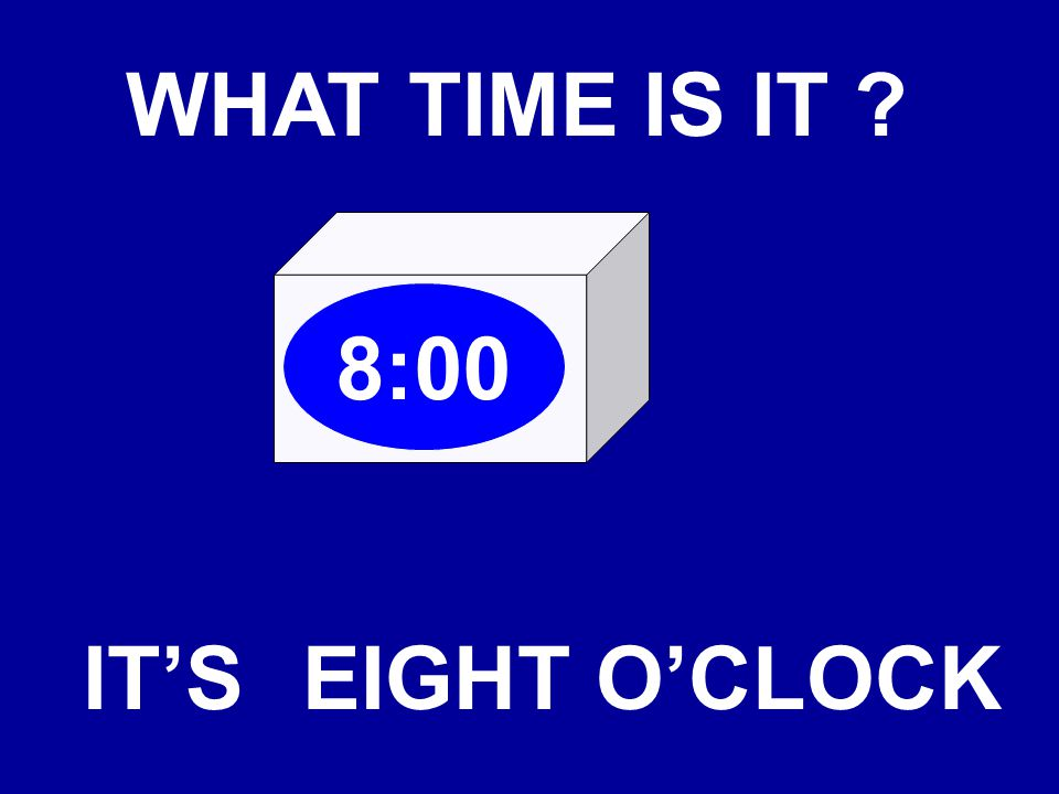 WHAT TIME IS IT ? 10:55 IT'STENFIFTY-FIVE