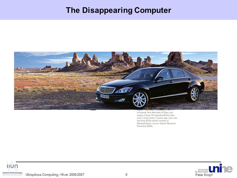 Peter Kropf Ubiquitous Computing - Hiver 2006/200717 Example : supermarket