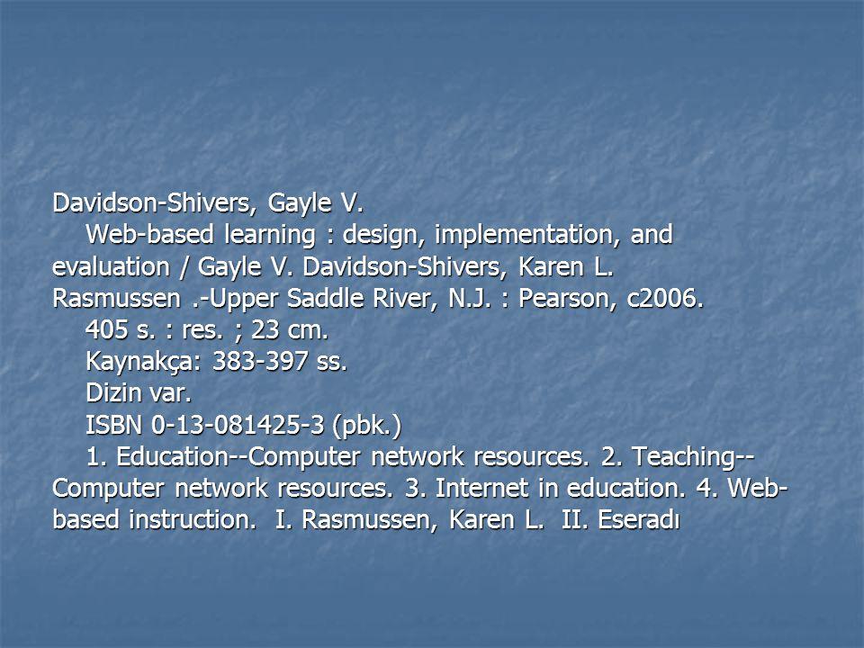 Davidson-Shivers, Gayle V.