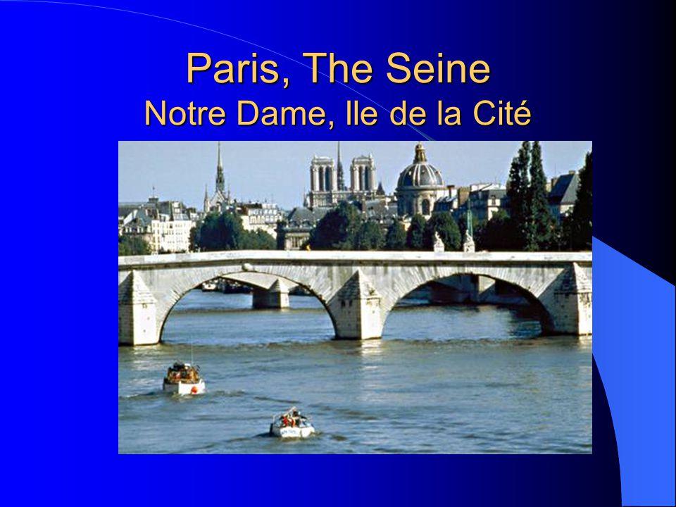 Paris, The Seine Notre Dame, Ile de la Cité