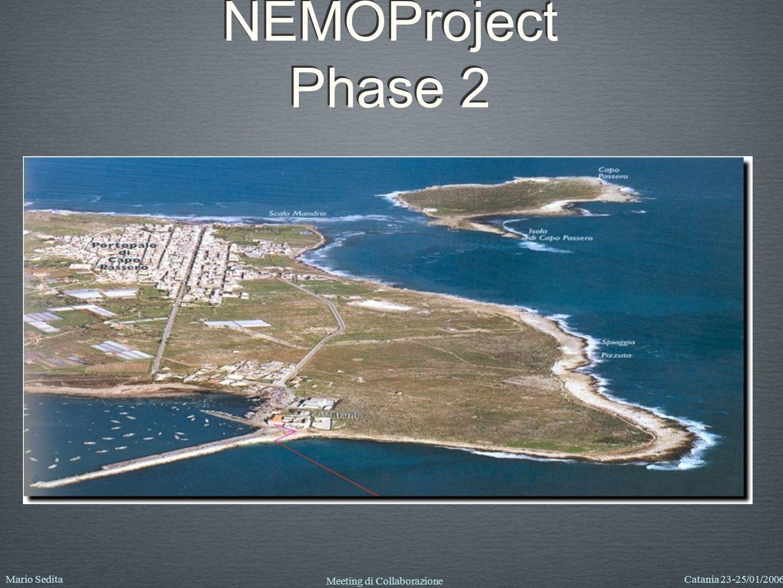 Mario SeditaCatania 23-25/01/2006 Meeting di Collaborazione NEMOProject Phase 2