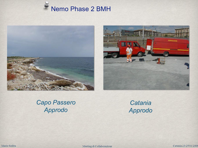 Mario SeditaCatania 23-25/01/2006 Meeting di Collaborazione Nemo Phase 2 BMH Capo Passero Approdo Catania Approdo