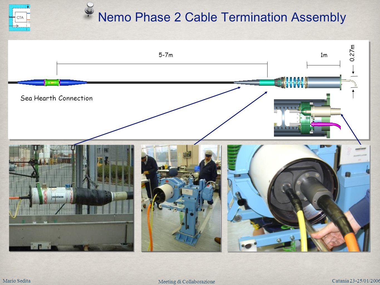 Mario SeditaCatania 23-25/01/2006 Meeting di Collaborazione 5-7m1m 0.27m CTA Sea Hearth Connection Nemo Phase 2 Cable Termination Assembly