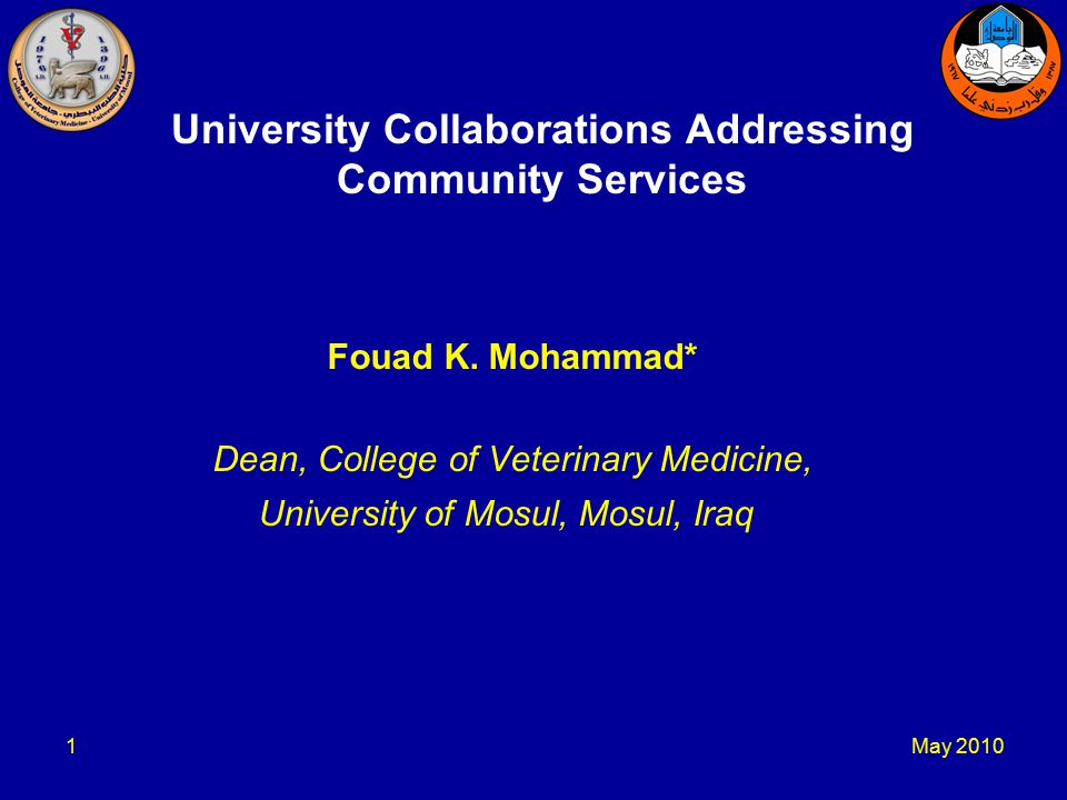 May University Collaborations Addressing Community Services Fouad K.