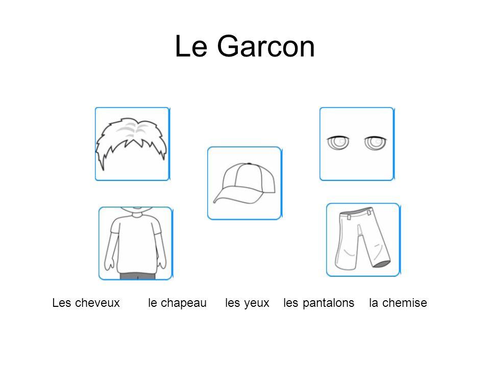 Le Garcon Les cheveux le chapeau les yeux les pantalons la chemise