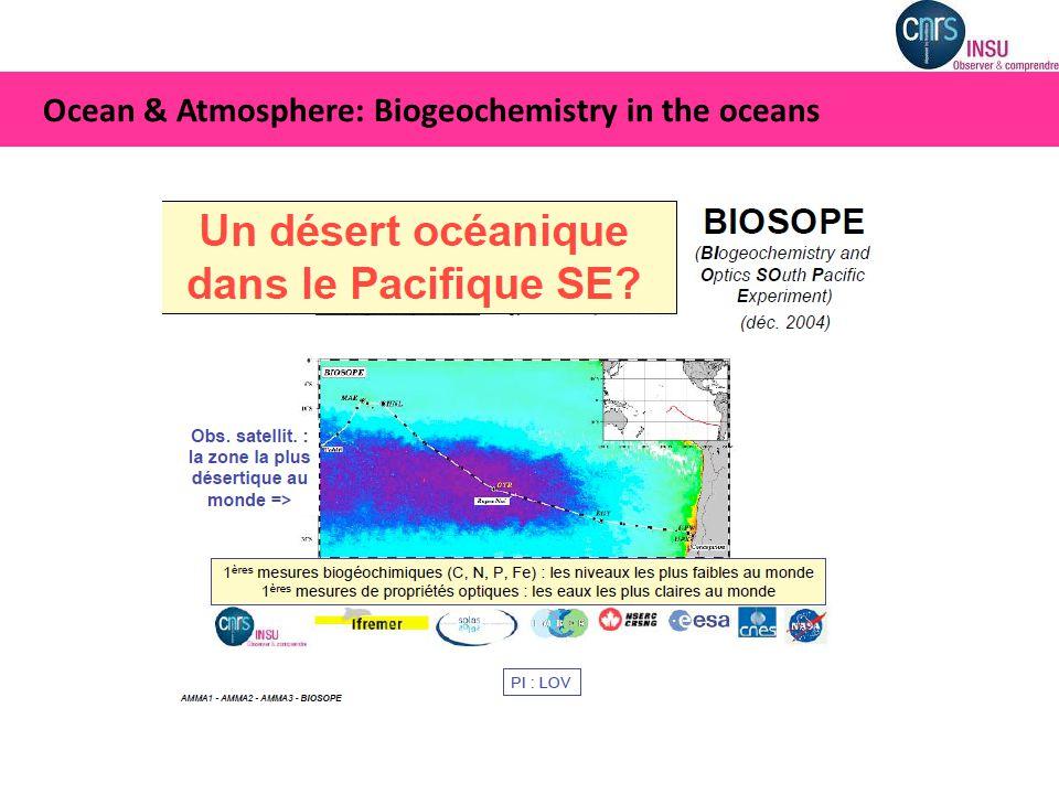 Ocean & Atmosphere: Biogeochemistry in the oceans