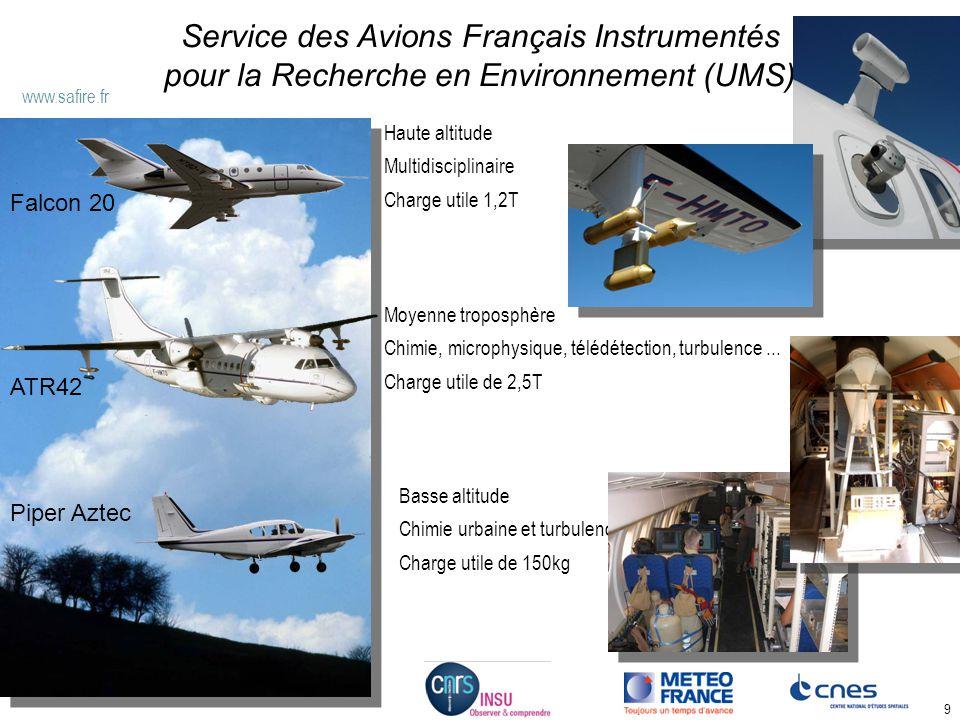 9 Service des Avions Français Instrumentés pour la Recherche en Environnement (UMS) \\garak\home\BUREAU\Elements graphiques Piper Aztec Moyenne tropos
