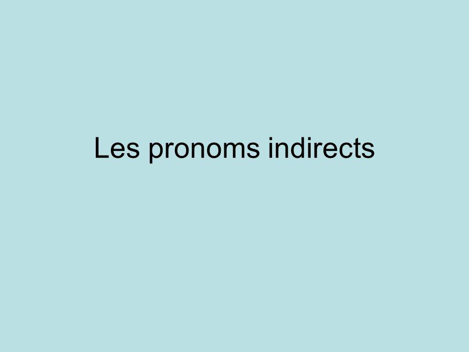 Les pronoms indirects