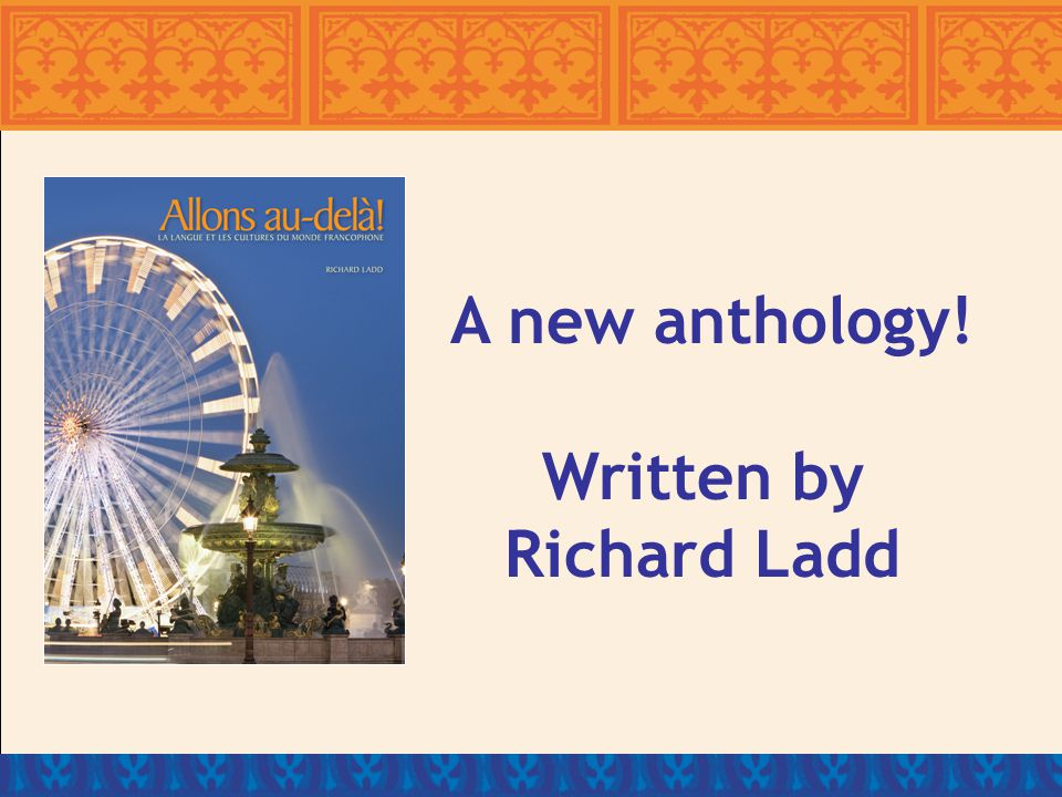 Written specifically for the AP French Language and Culture Examination