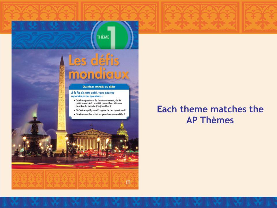 Each theme matches the AP Th è mes