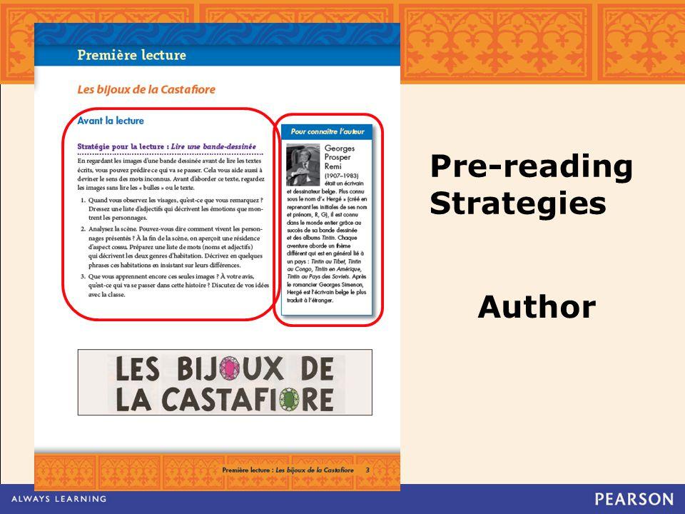 Pre-reading Strategies Author