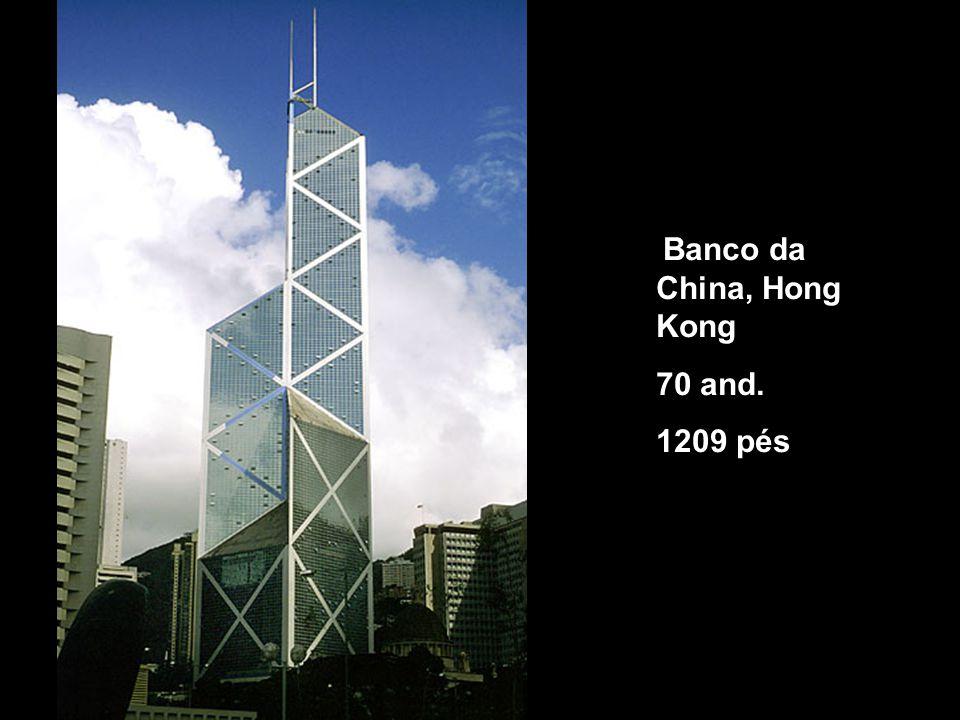 Banco da China, Hong Kong 70 and. 1209 pés
