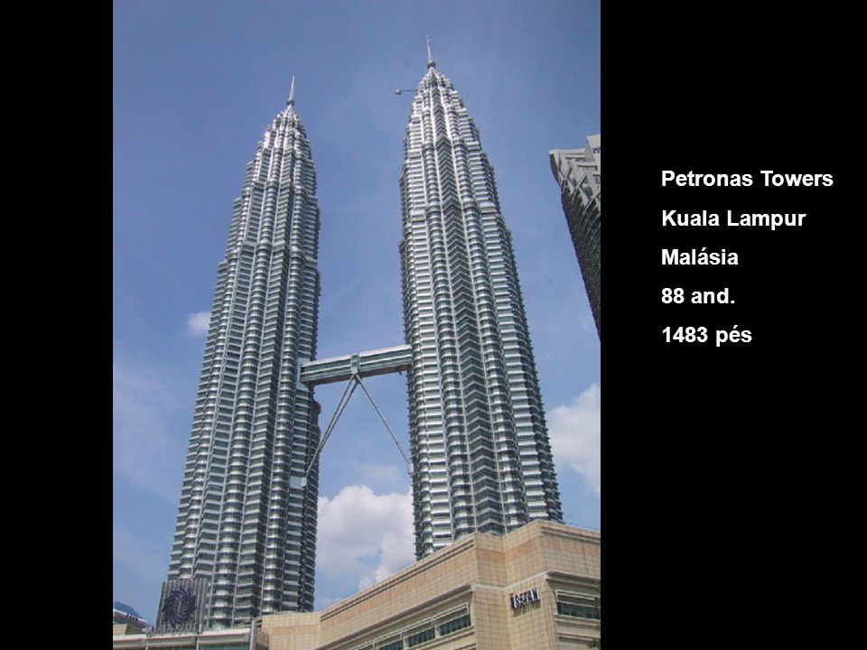 Petronas Towers Kuala Lampur Malásia 88 and. 1483 pés