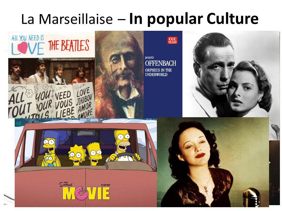 La Marseillaise – In popular Culture