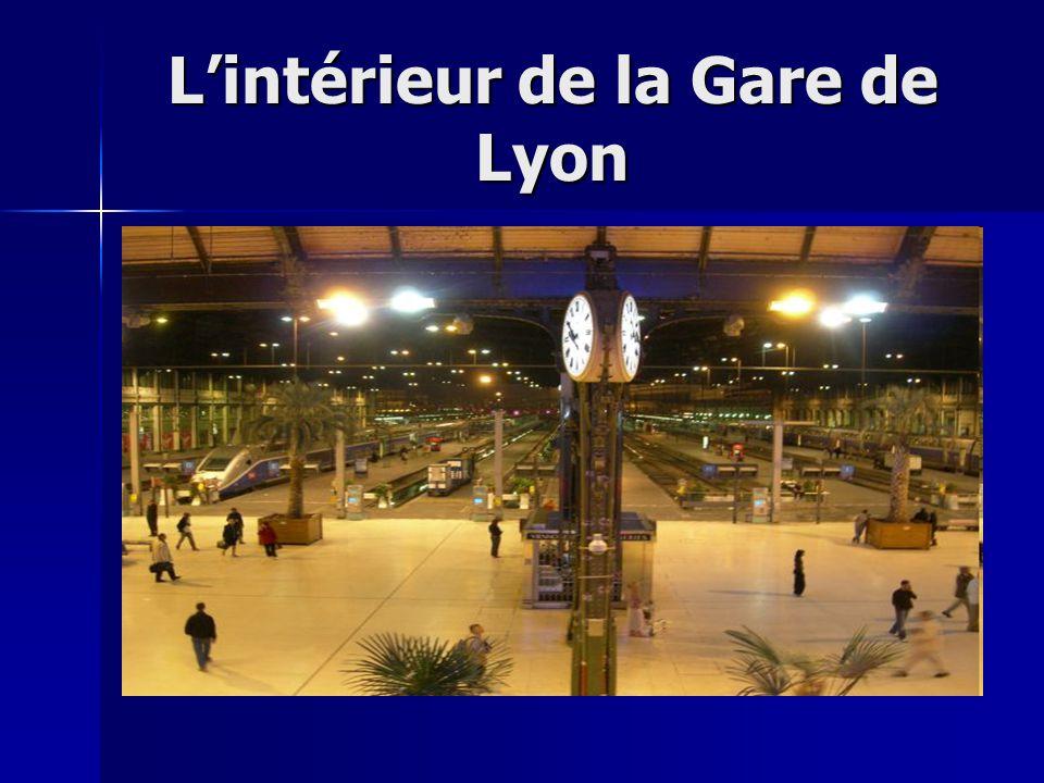 L'intérieur de la Gare de Lyon