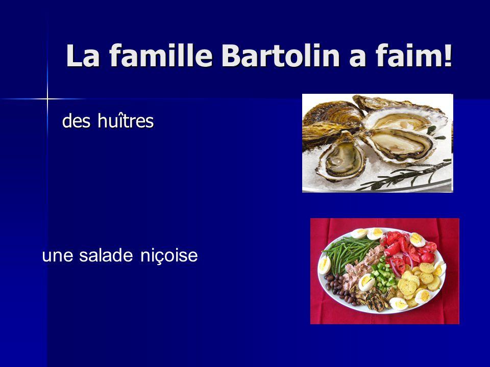 La famille Bartolin a faim! des huîtres une salade niçoise