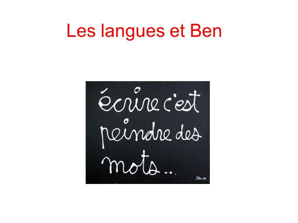 Les langues et Ben