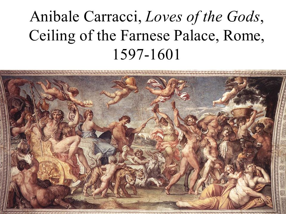 Anibale Carracci, Ceiling of the Farnese Palace, Rome, 1597- 1601