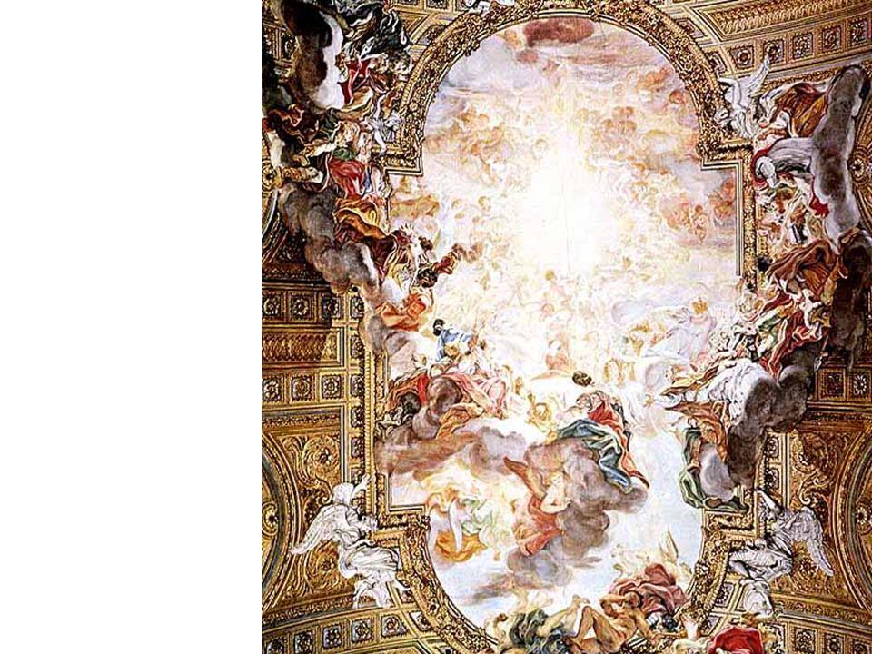 Giovanni Battista Gaulli, Triumph in the Name of Jesus, Il Gesu, Rome, 1676-79 Di Sotto in Su