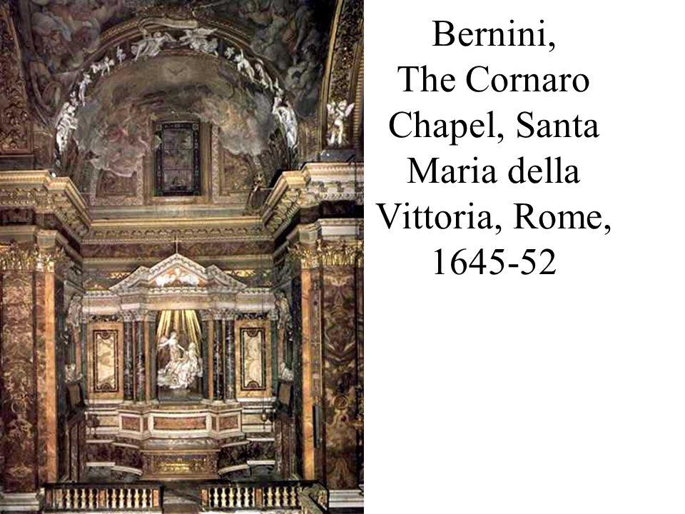 Bernini, The Cornaro Chapel, Santa Maria della Vittoria, Rome, 1645-52