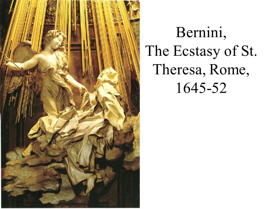 Bernini, The Ecstasy of St. Theresa, Rome, 1645-52