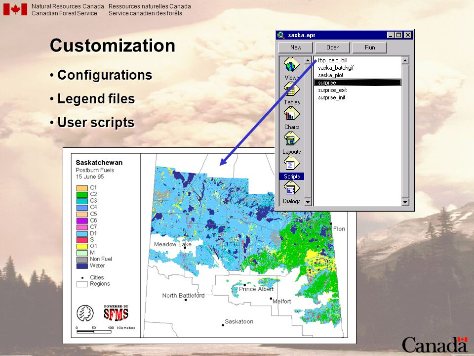 Natural Resources Canada Canadian Forest Service Ressources naturelles Canada Service canadien des forêtsCustomization Configurations Configurations L