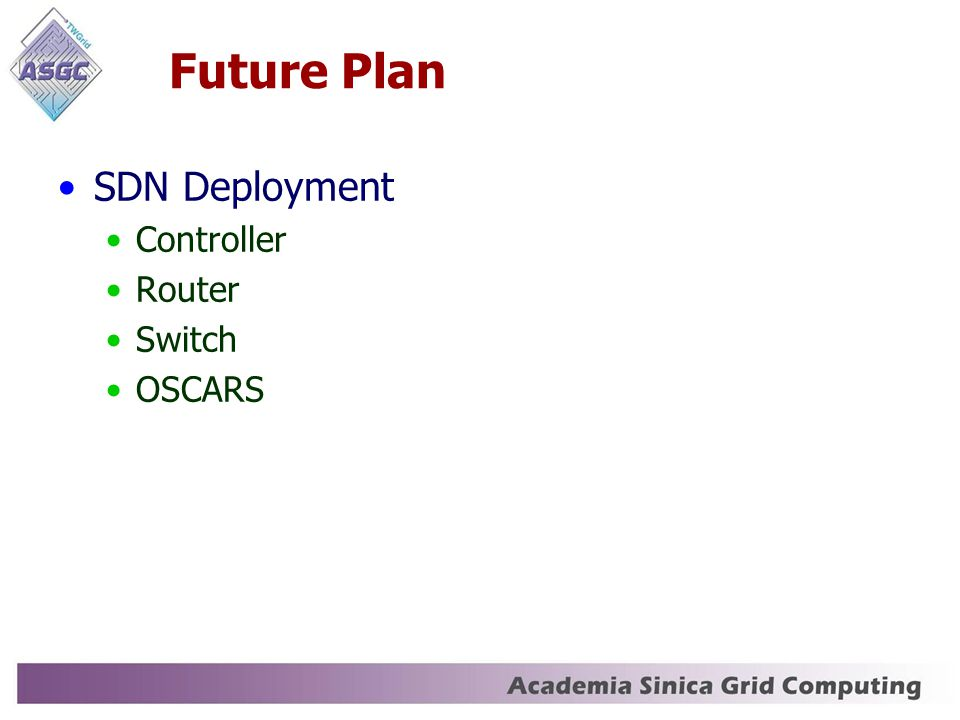 Future Plan SDN Deployment Controller Router Switch OSCARS