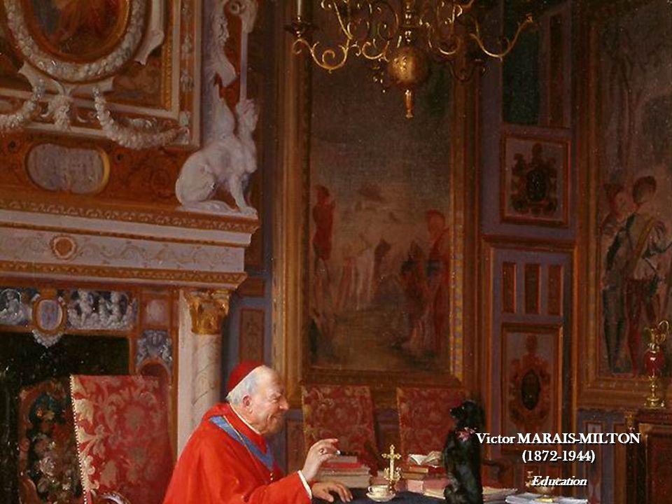 Victor MARAIS-MILTON Cardinal reading a paper Victor MARAIS-MILTON Cardinal reading a paper