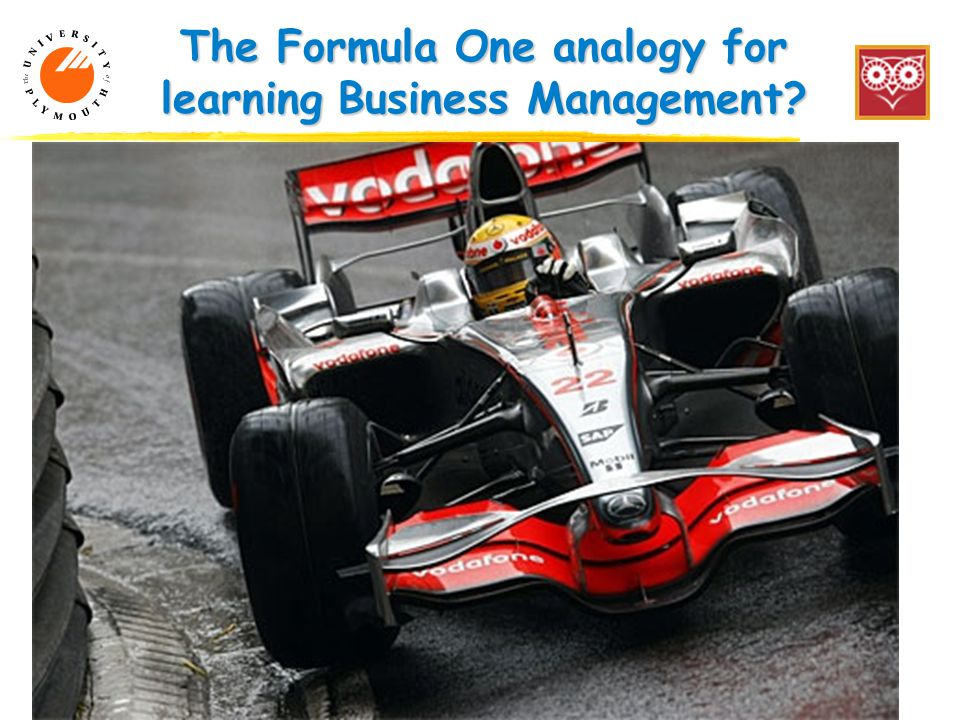 The Formula One analogy for learning Business Management 7