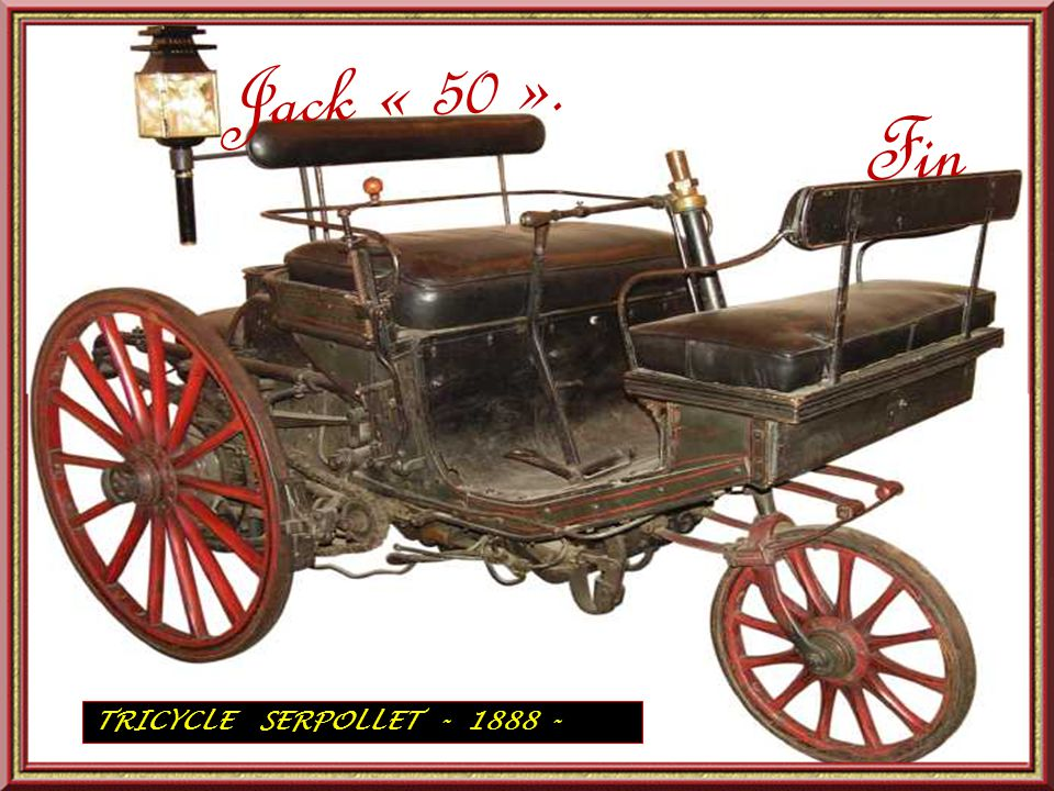 TRICYCLE A PETROLE AUDIBERT ET LAVEROTTE