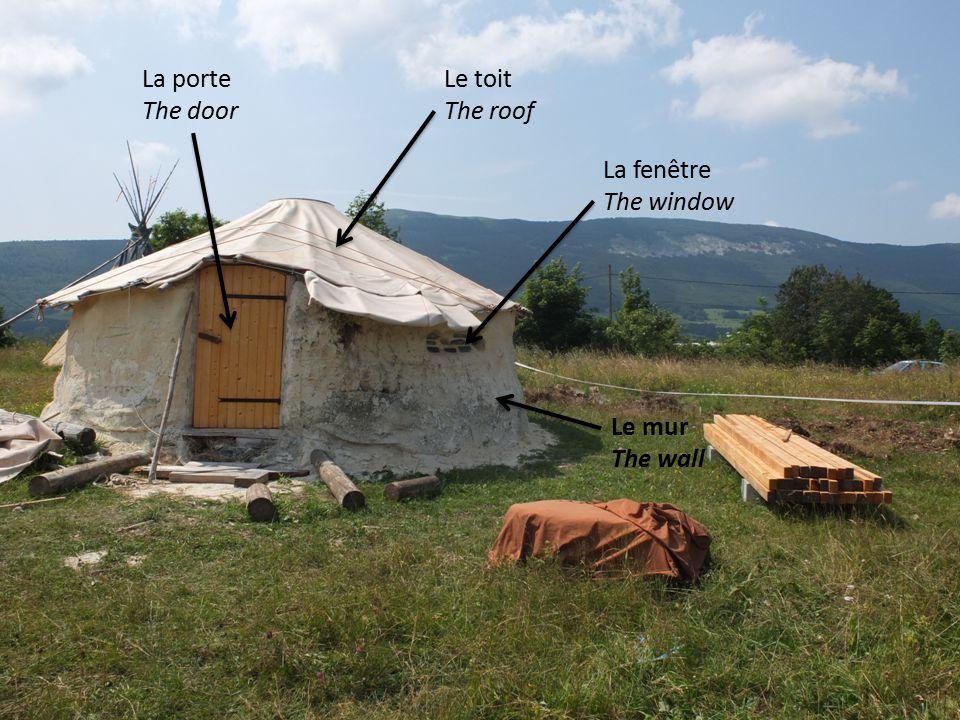 Le toit The roof Le mur The wall La fenêtre The window La porte The door