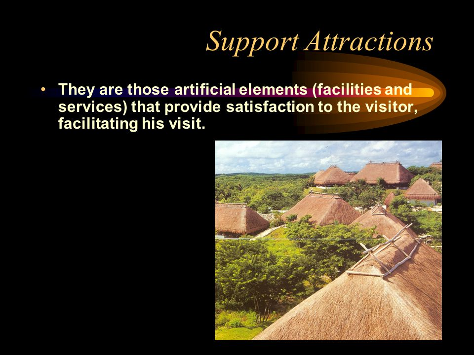 Complementary Attractions They provide added value to the ecotourism destination, contributing to a richer and more diverse tourism experience.