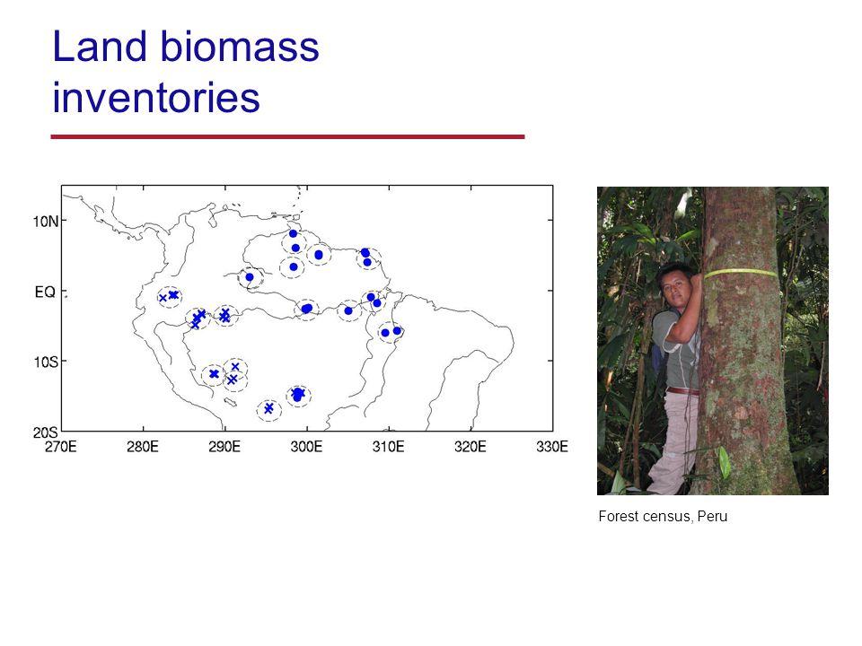 Land biomass inventories Forest census, Peru