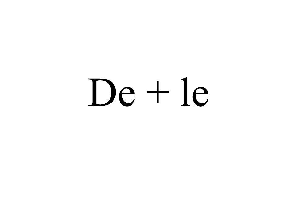 De + le