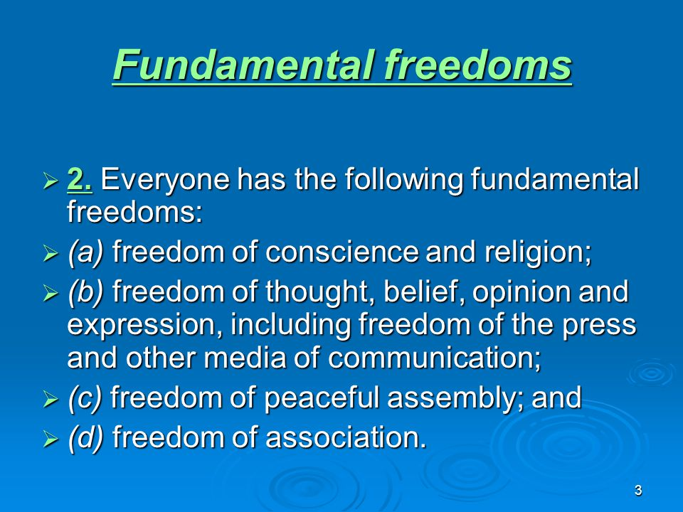 4 Legal Rights  Life, liberty and security of person Life, liberty and security of person Life, liberty and security of person  7.