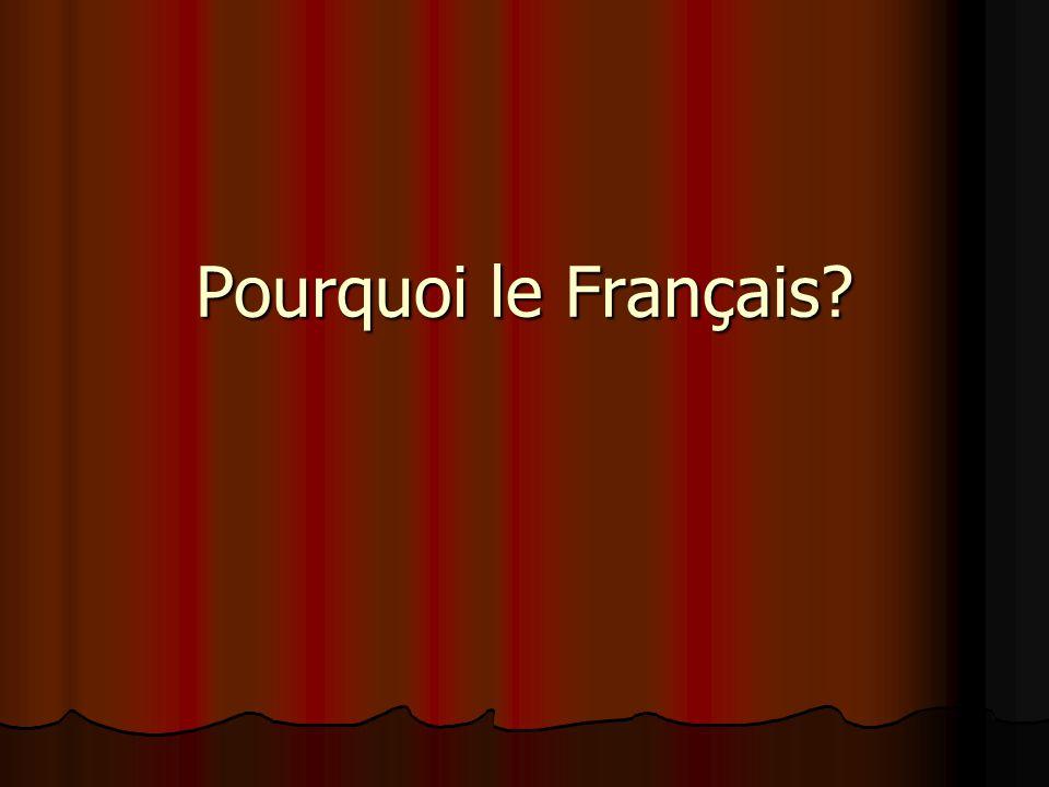 Pourquoi le Français